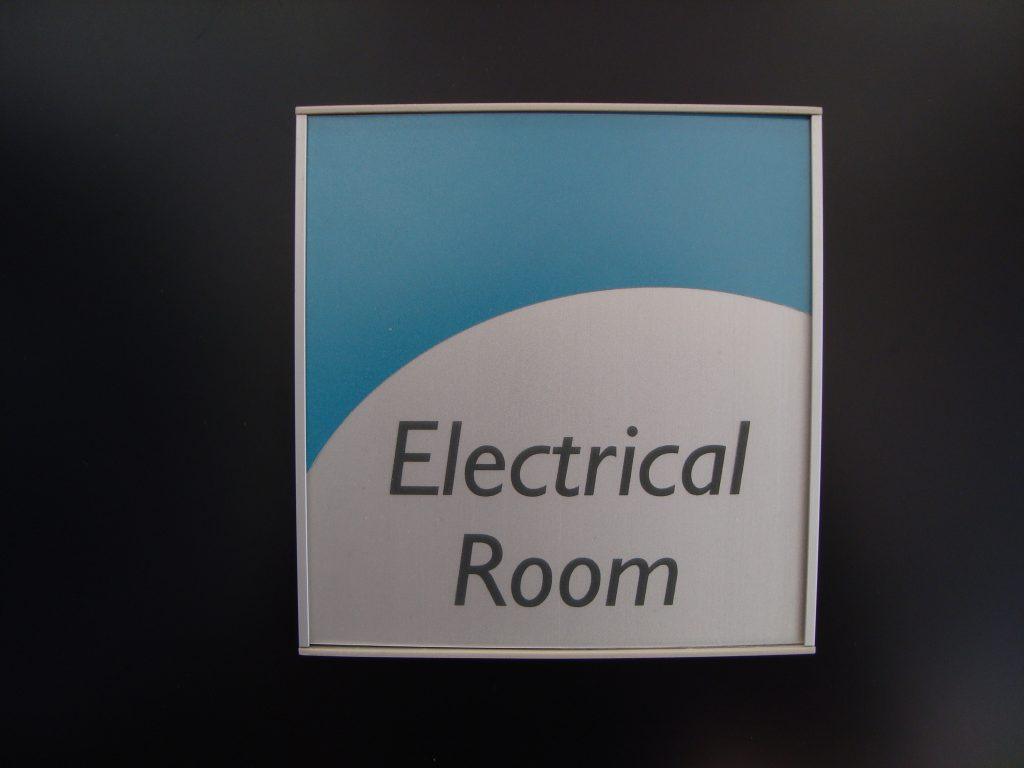 VSF150-6P Flat Wall Sign sample Electrical Room
