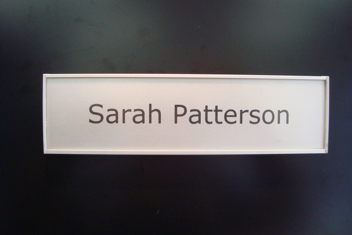 VSF60-8.5L Flat Office Name plate sample