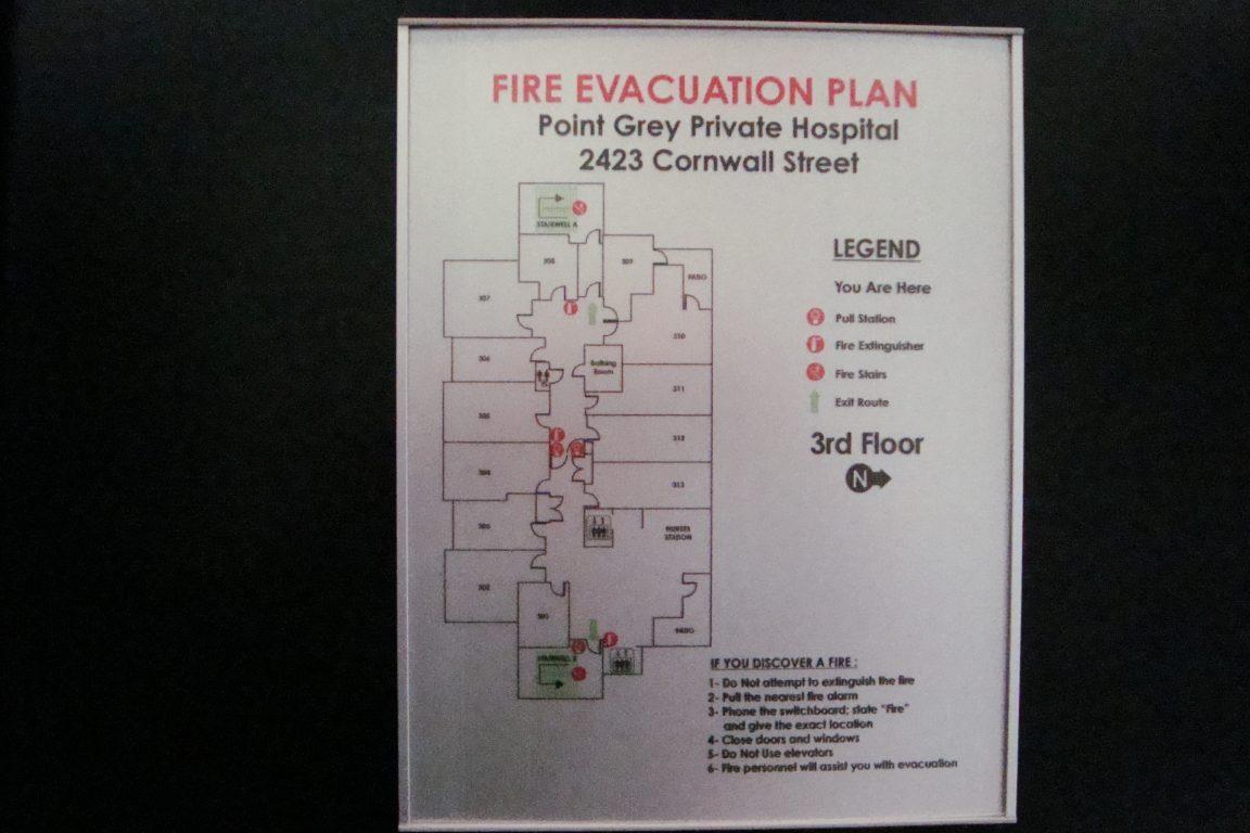 VSF8.5-11EVAC Fire Evacuation Plan Holder FLAT sample