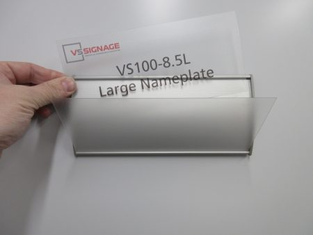 VS100-8.5L Large Nameplate Curved Messaged Insert Example Only
