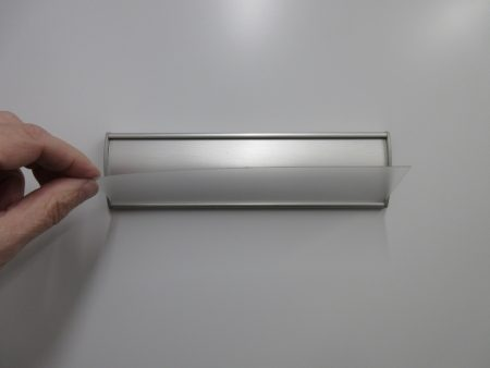 VS60 Clear Replacement Cover for VS60-8.5L Office Nameplate