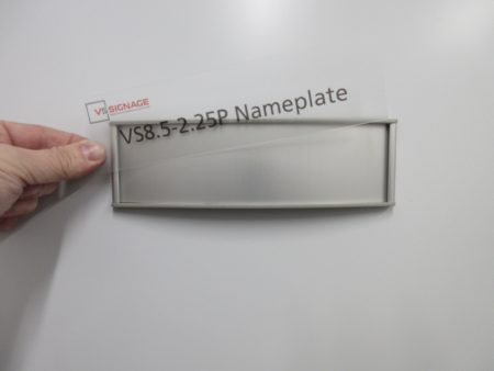 VS8.5-2.25P Nameplate Curved Messaged Insert example only