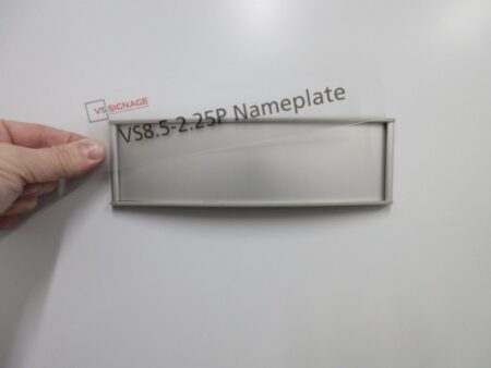 VS8.5-2.25P Name Plate Curved Messaged Insert example only