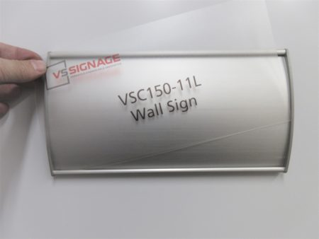 VSC150-11L Wall Sign - Curved with messaged insert example