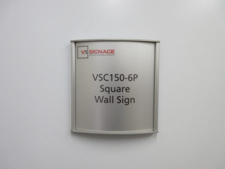 VSC150-6P Square Wall Sign - Curved