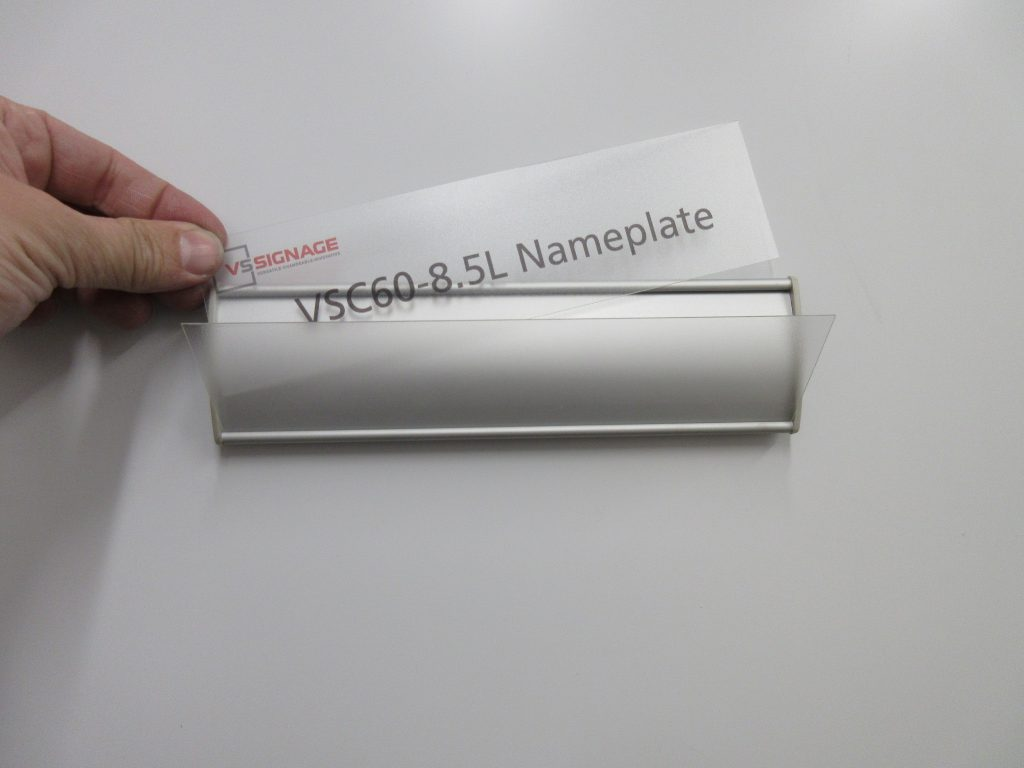 Vsc60 85l Office Nameplate Curved Sign Holder Vs Signage Systems