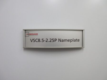 VSC8.5-2.25P Name Plate sign - Curved