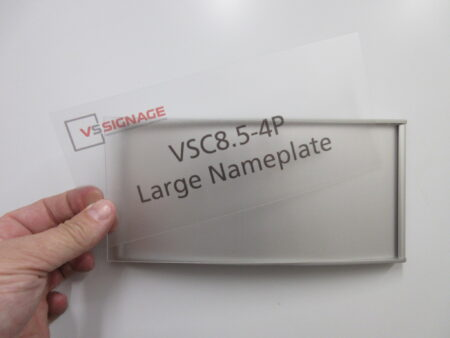 VSC8.5-4P Large Nameplate - Curved